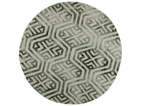 KAS Canvas Modern Green Hand Made Wool Geometric Area Rug - CAN230256X56RO-ROU