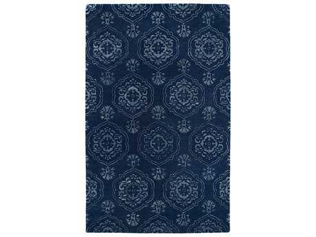 Kaleen Divine Transitional Blue Hand Made Wool Damask 2' x 3' Area Rug - DIV07-22-23