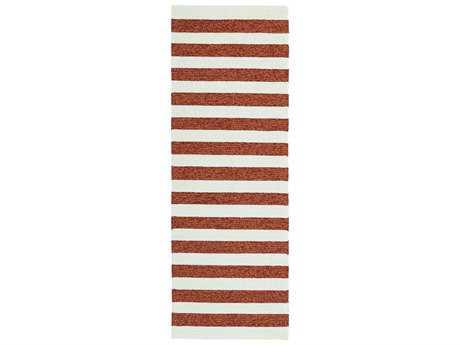 Kaleen Escape Modern Red Hand Made Synthetic Stripes Area Rug- ESC03-53-RUN