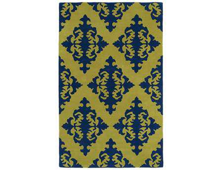 Kaleen Evolution Traditional Green Hand Made Wool Damask 2' x 3' Area Rug - EVL05-70-23