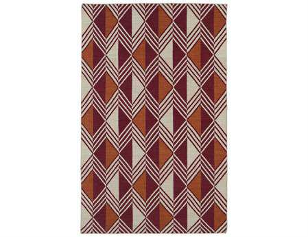 Kaleen Nomad Traditional Red Flatweave Wool Geometric 2' x 3' Area Rug - NOM06-25-23