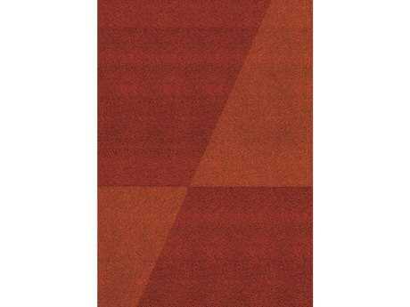 Kalora Fame Modern Red Machine Made Synthetic Geometric 5'3