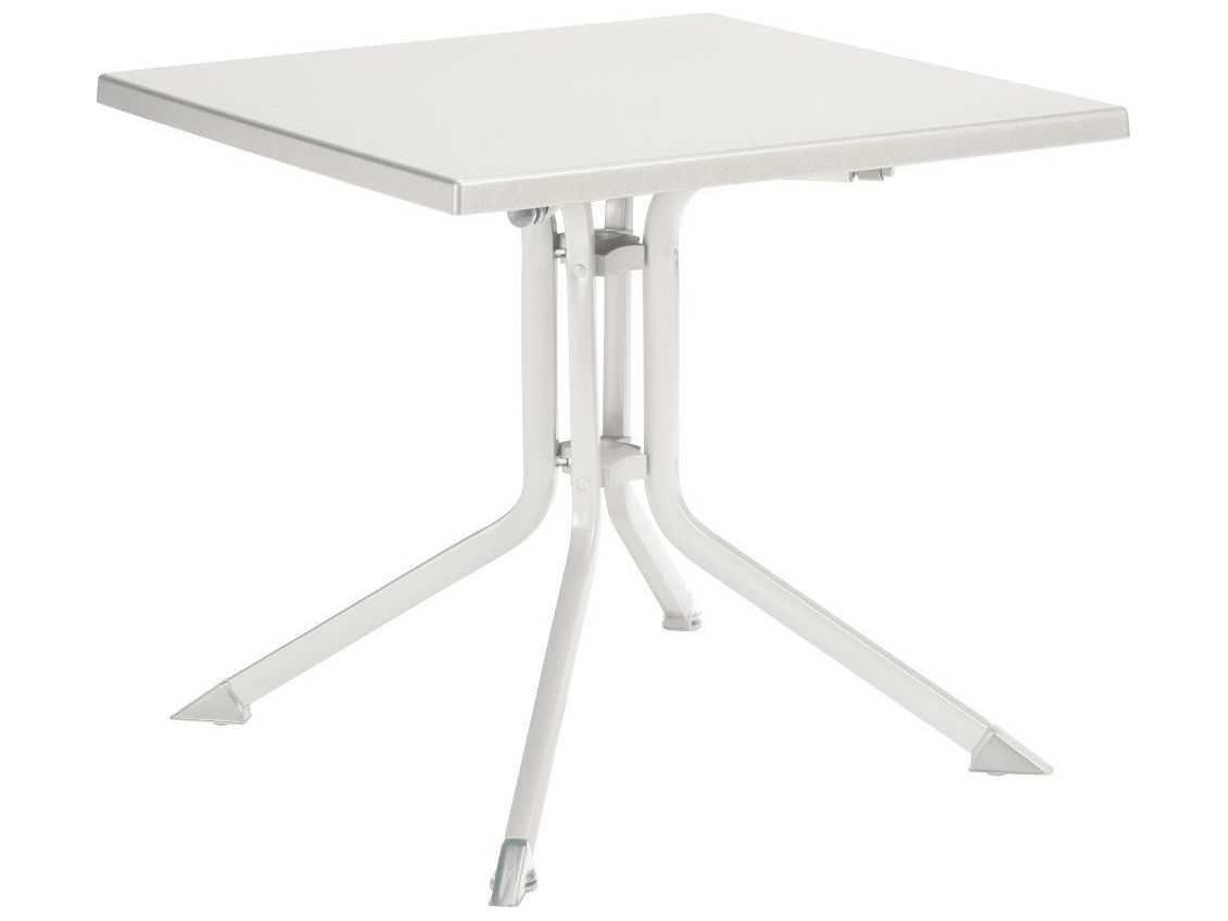 Kettler 32 39 39 square folding table white white 307018 5100 for Table kettler