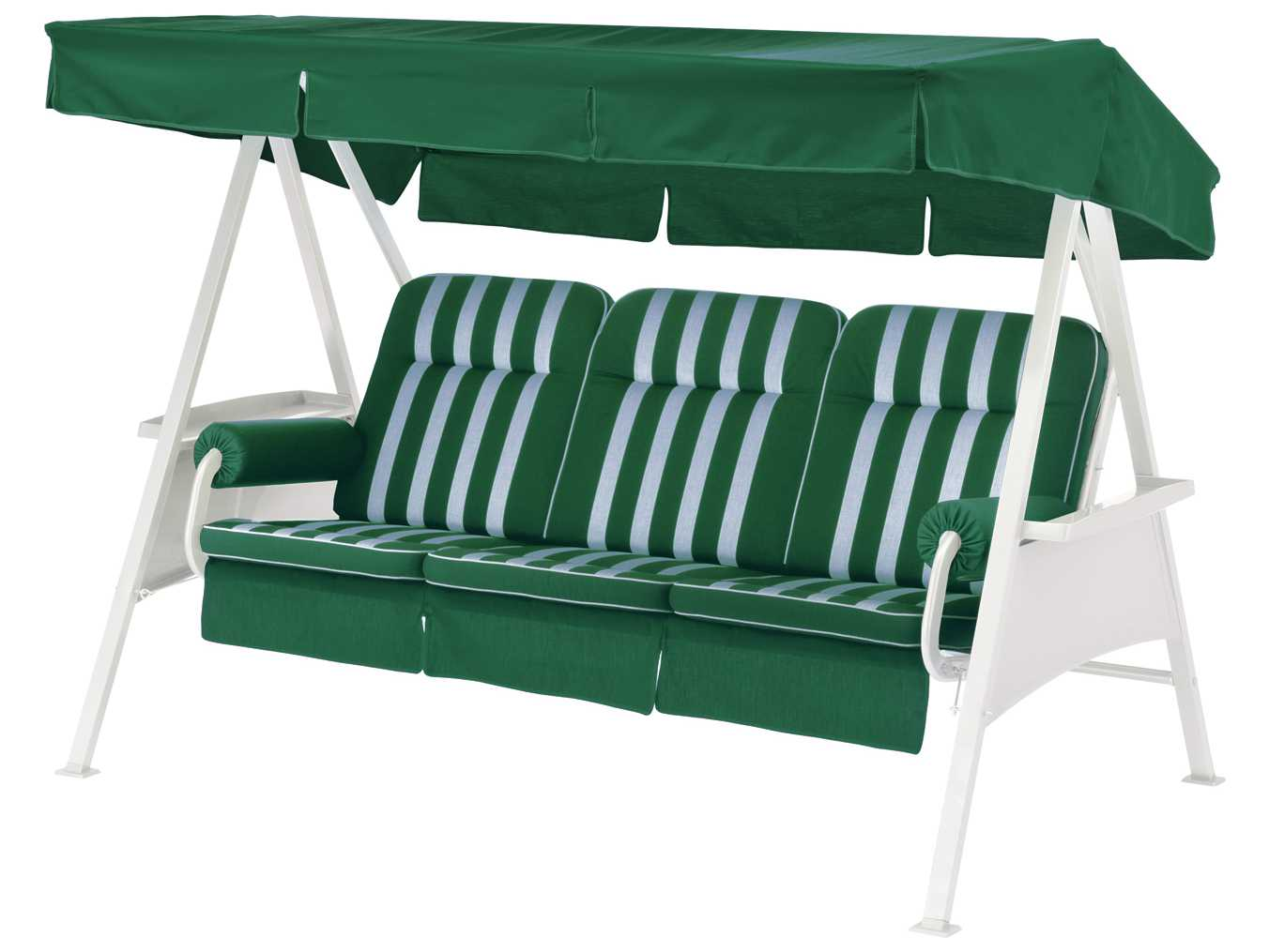 Kettler 3 Seater Swing With Forest Green Cushion Set 41590k1