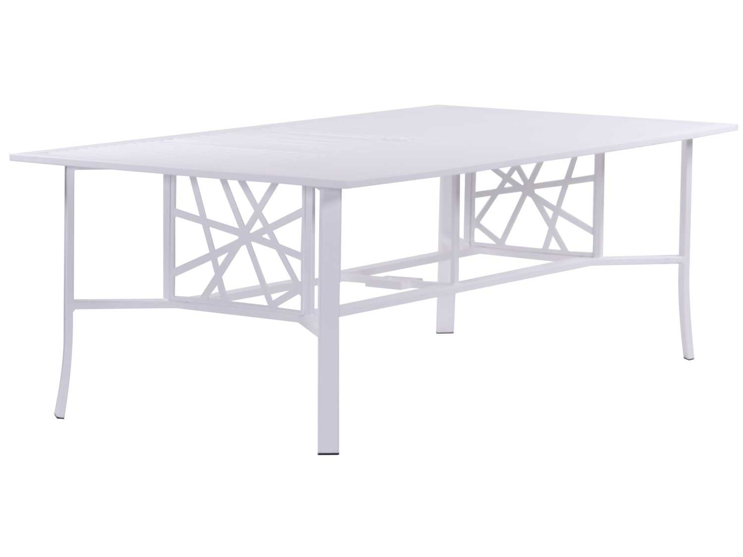 Koverton Parkview Knest Cast Aluminum 87 X 44 Rectangular Dining Table With H