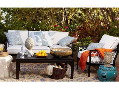 Koverton Parkview Cast Cast Aluminum 4 Person Cushion Conversation Patio Lounge Set