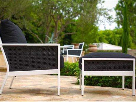 Koverton Parkview Woven Wicker 1 Person Cushion Conversation Patio Lounge Set