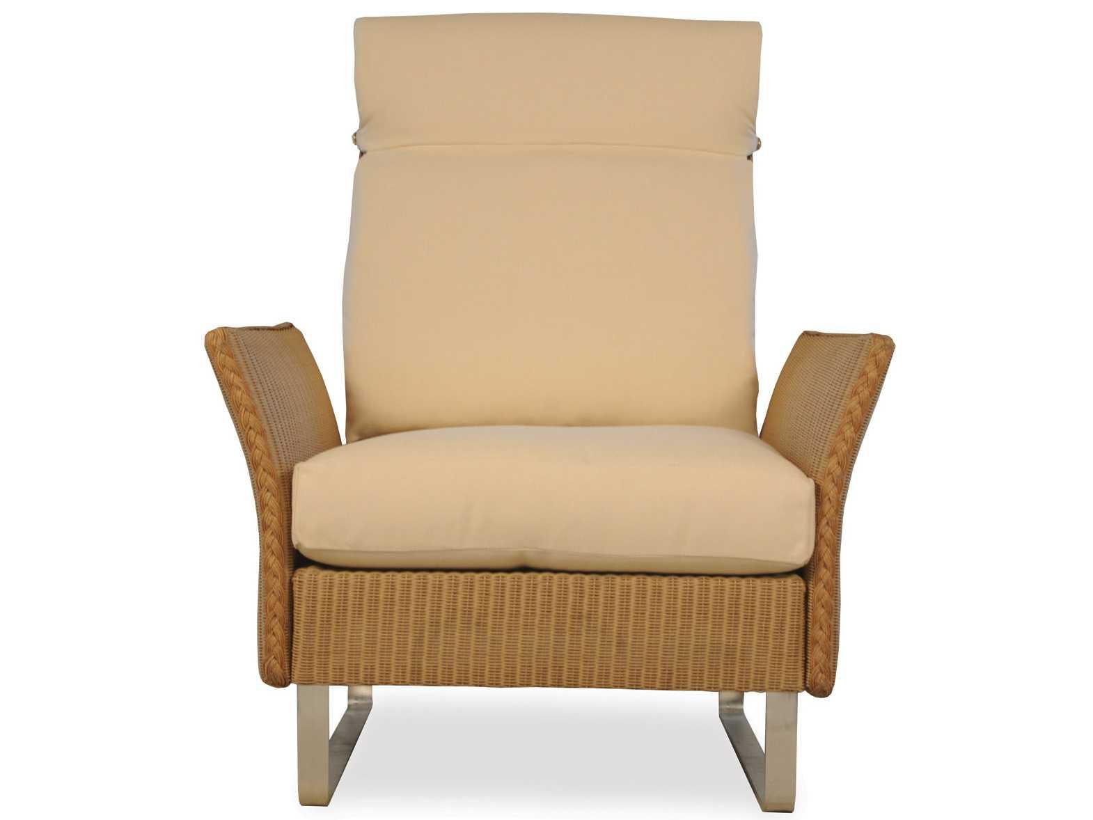 Lloyd Flanders Nova Wicker High Back Lounge Chair