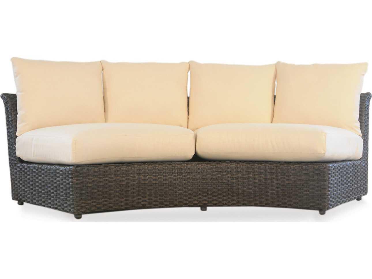 Lloyd Flanders Flair Wicker Curved Sectional Sofa 215056