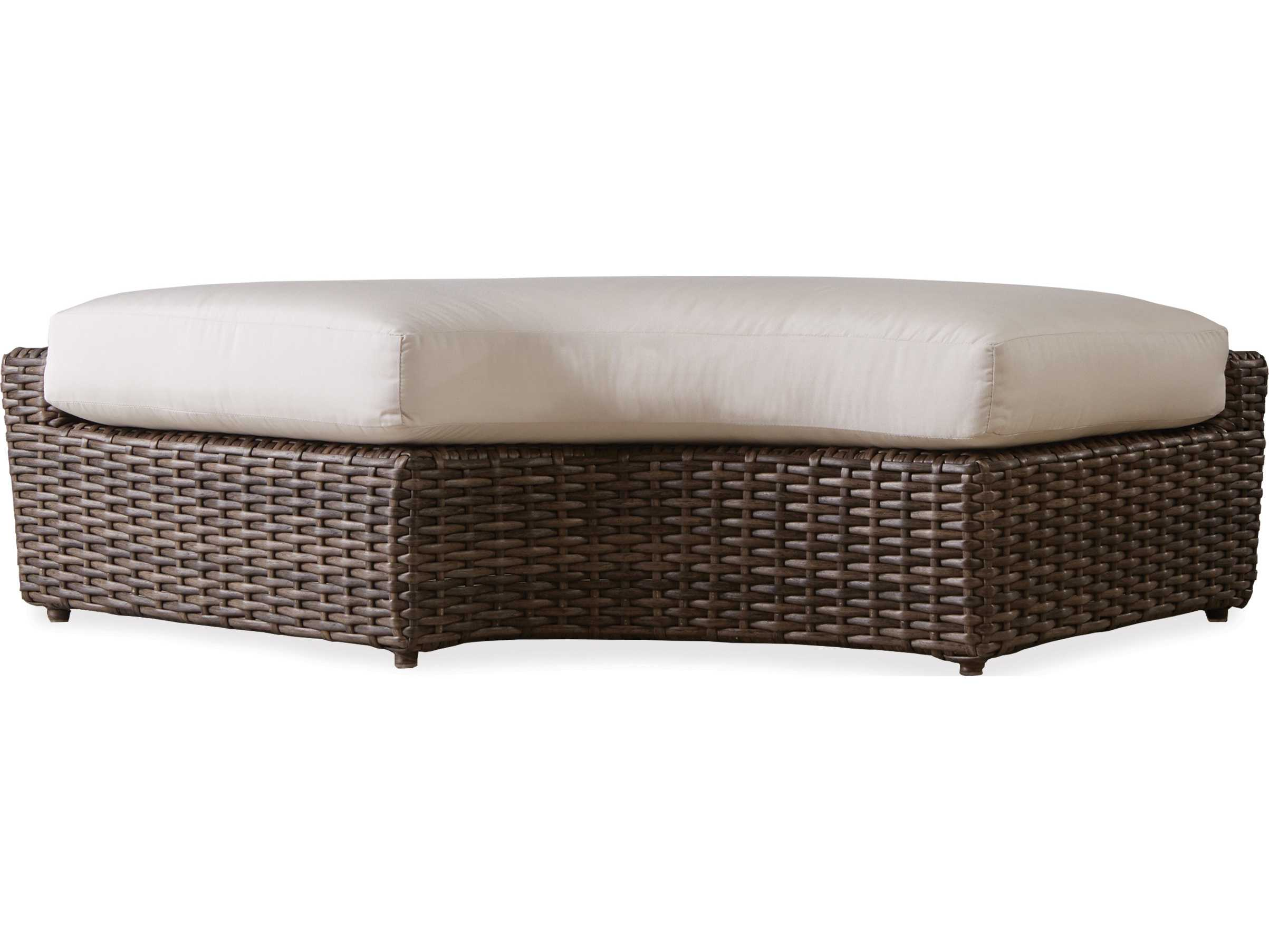 Lloyd Flanders Largo Wicker Left Curved Bench 241039