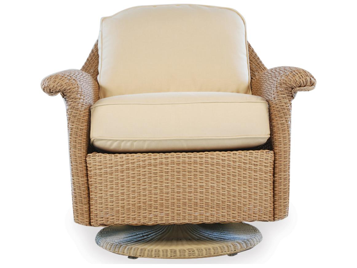 Lloyd Flanders Oxford Wicker Swivel Rocker Lounge Chair