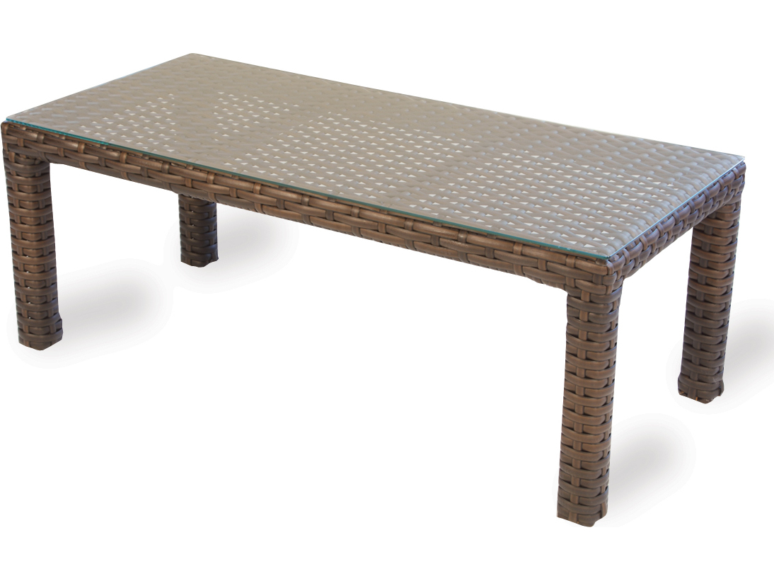Lloyd Flanders Contempo Wicker 48 39 39 X 23 39 39 Rectangular Coffee Table 38045
