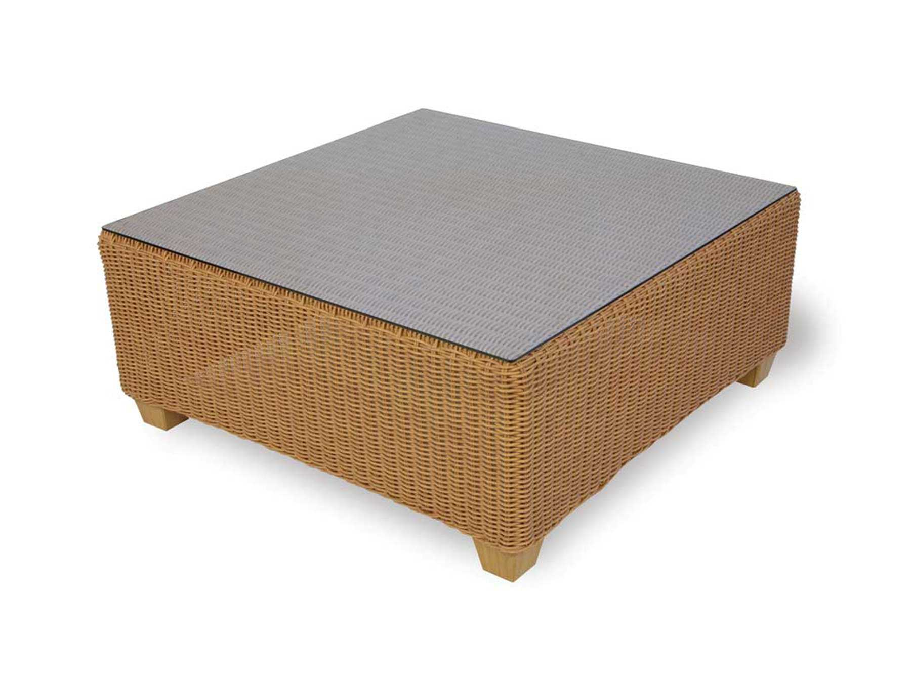 Lloyd Flanders Napa Wicker 40 Square Coffee Table 42044