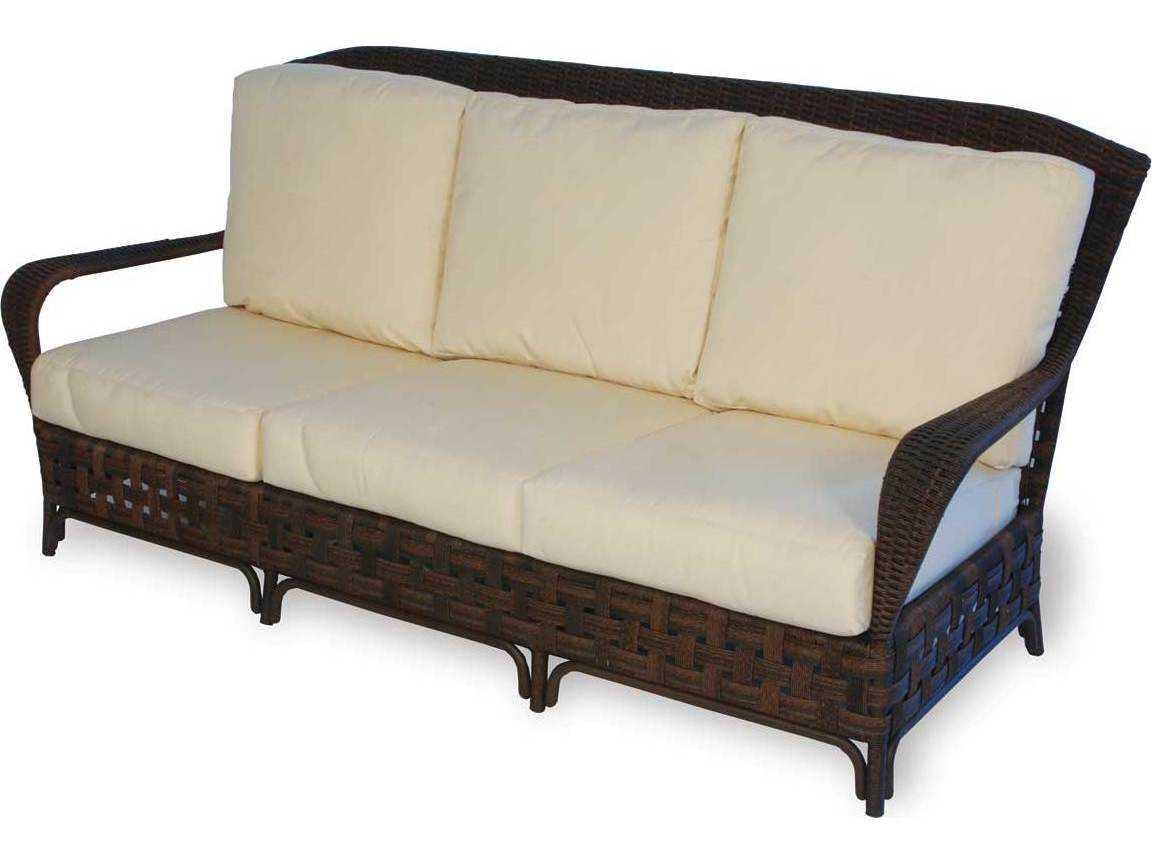 Lloyd Flanders Grand Traverse Sofa Replacement Cushions lloyd flanders haven wicker arm sofa lf43055 haven collection by lloyd ...