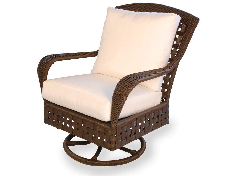 lloyd flanders haven wicker swivel glider lounge chair 43091