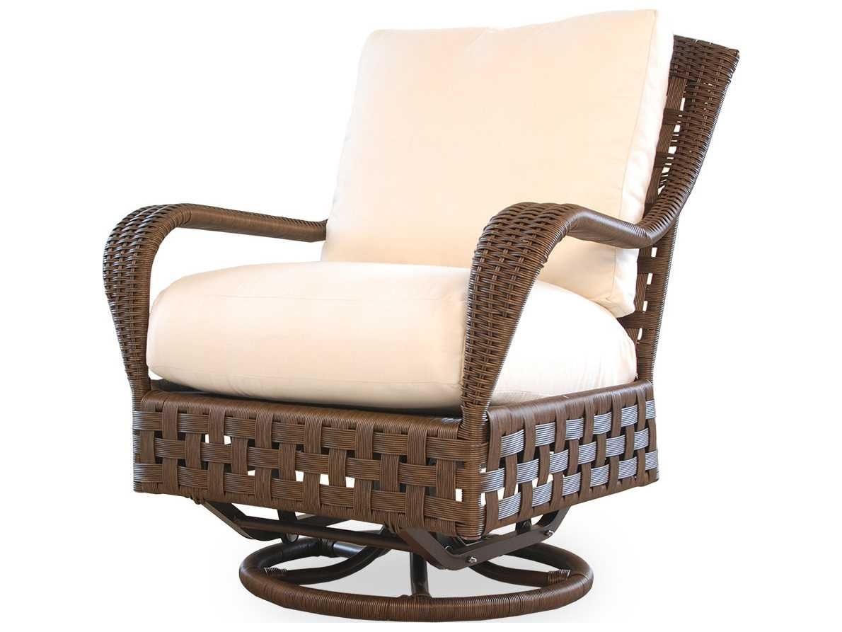 lloyd flanders haven wicker swivel glider lounge chair 43091. Black Bedroom Furniture Sets. Home Design Ideas