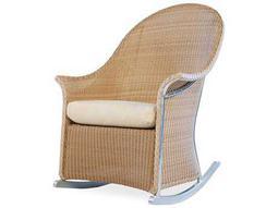 Lloyd Flanders Wicker Cushion Arm Rocker Lounge Chair