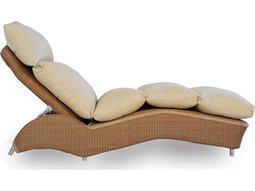 Lloyd Flanders Wicker Cushion Side Adjustable Lounge Bed