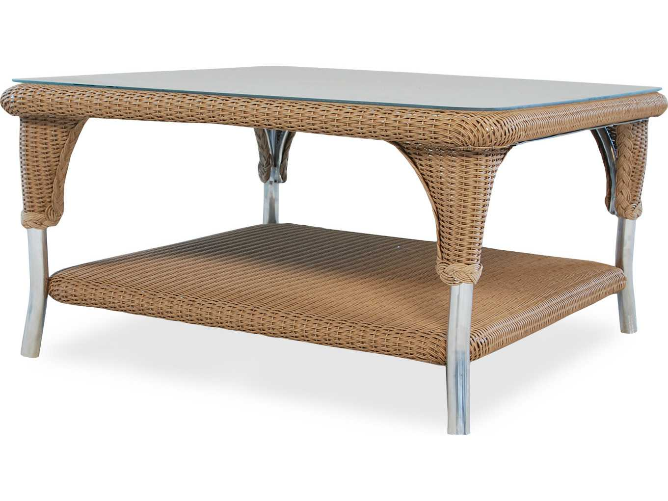Lloyd Flanders Wicker 35 39 39 Square Coffee Table 86244