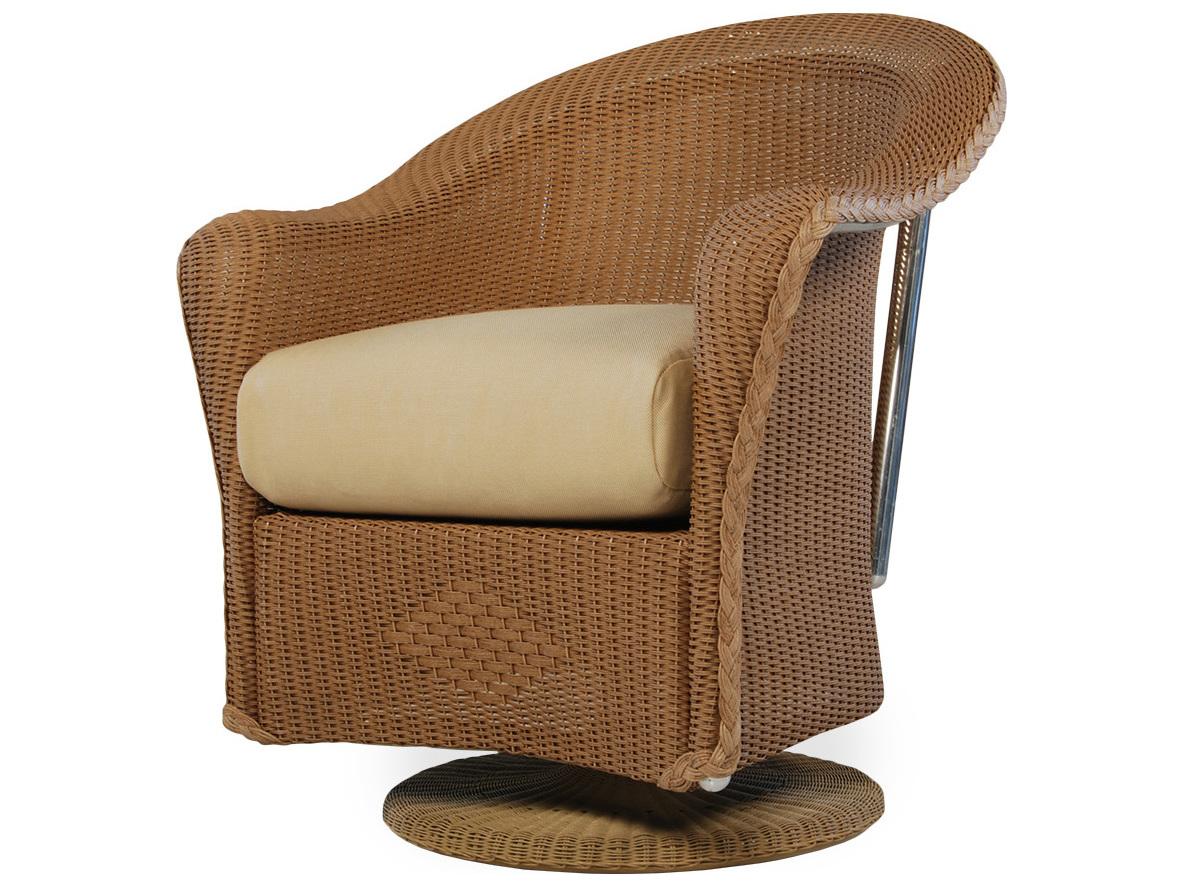lloyd flanders reflections wicker swivel dining chair 9071
