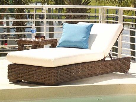 Lloyd Flanders Contempo Wicker 1 Person Cushion Pool Patio Lounge Set