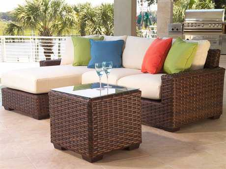 Lloyd Flanders Contempo Wicker 3 Person Cushion Sectional Patio Lounge Set