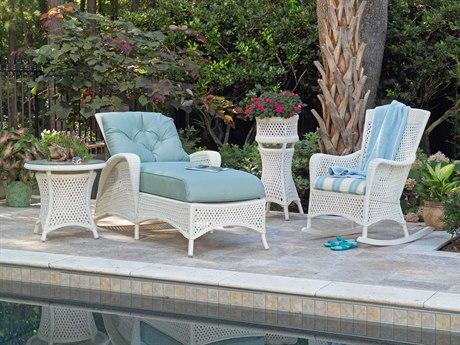 Lloyd Flanders Grand Traverse Wicker 2 Person Cushion Conversation Patio Lounge Set