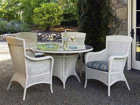 Lloyd Flanders Grand Traverse Wicker 4 Person Cushion Casual Patio Dining Set