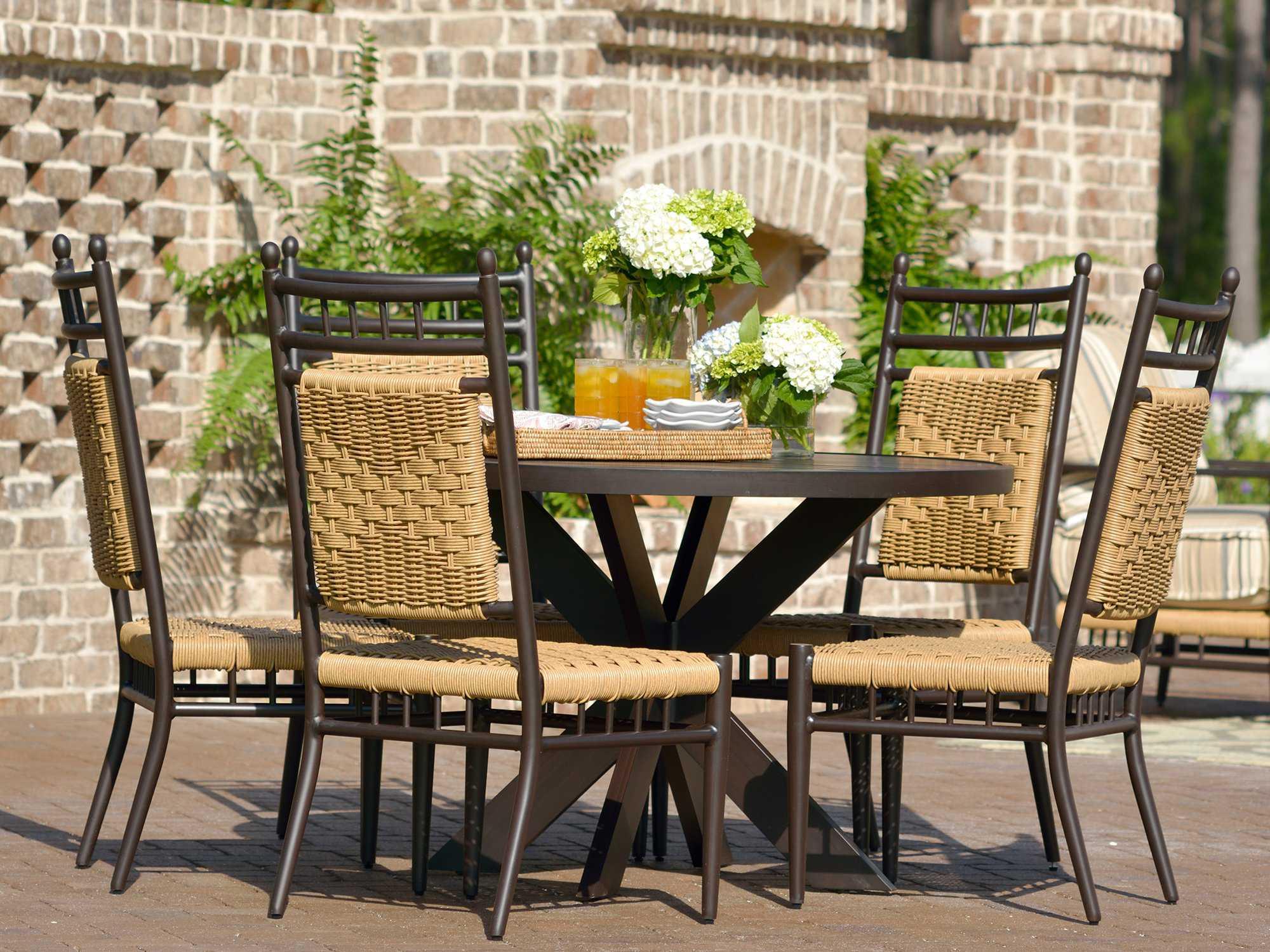 lloyd flanders low country dining set lowwrds. Black Bedroom Furniture Sets. Home Design Ideas