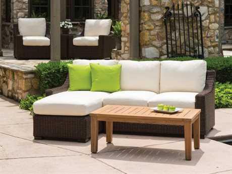 Lloyd Flanders Mesa Wicker 3 Person Cushion Conversation Patio Lounge Set