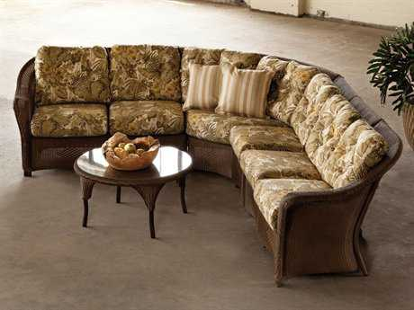 Lloyd Flanders Reflections Wicker 6 Person Cushion Sectional Patio Lounge Set