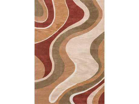 Loloi Abacus Modern Brown Hand Made Synthetic Abstract 3'6'' x 5'6'' Area Rug - ABACAC-01BERU3656
