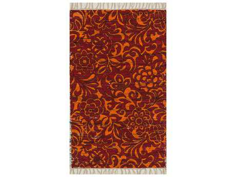 Loloi Aria Transitional Red Flatweave Cotton Floral/Botanical 1'8'' x 3'0'' Area Rug - ARIAHAR14REOR1830