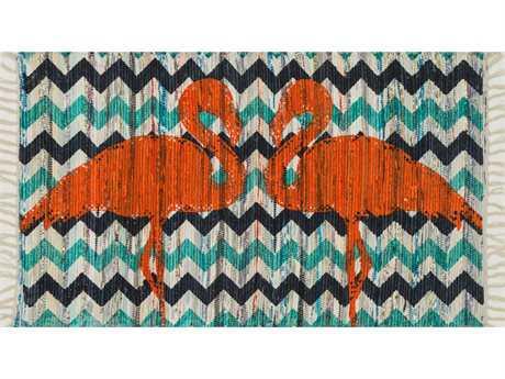 Loloi Aria Transitional Blue Flatweave Cotton Animals/Animal Print Area Rug - ARIAHAR20AQOR2339