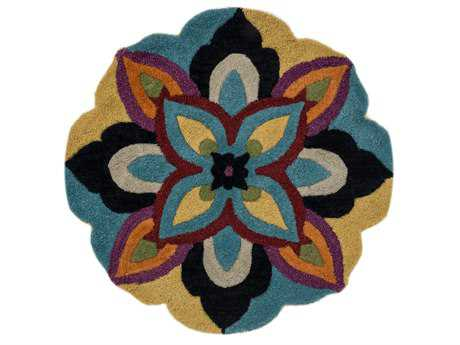 Loloi Azalea Transitional Blue Hand Made Wool Floral/Botanical Area Rug - AZ-04-BBML-ROU