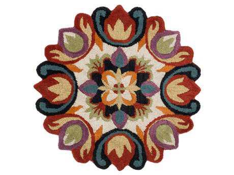 Loloi Azalea Transitional Red Hand Made Wool Floral/Botanical Area Rug - AZ-07-REML-ROU