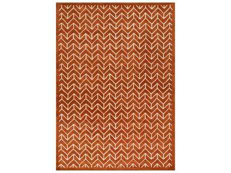 Loloi Brighton Modern Orange Hand Made Wool 3'6'' x 5'6'' Area Rug - BRIGBT-08TG003656