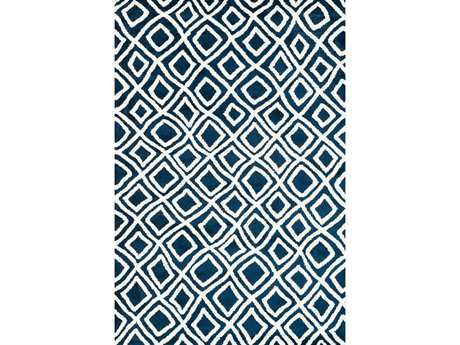 Loloi Charlotte Transitional Blue Machine Made Synthetic Geometric 2'3'' x 3'9'' Area Rug - CHARCT-02NV002339