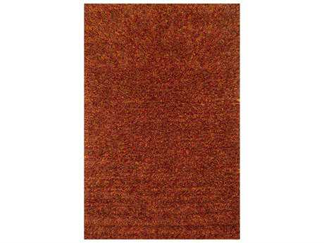 Loloi Dion Shag Red Hand Made Synthetic Solid 3'6'' x 5'6'' Area Rug - DIONDS-01RU003656