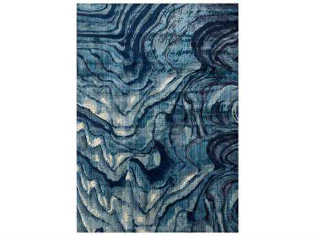 Loloi Dreamscape Modern Blue Machine Made Synthetic Abstract 1'13'' x 3'' Area Rug - DREMDM-13INBB1B30
