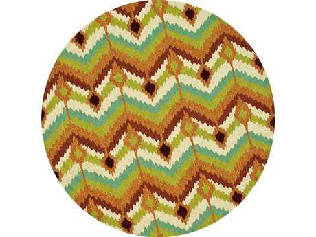 Loloi Enzo Modern Green Hand Made Synthetic Chevron Area Rug - EZ-01-ML-ROU