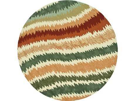 Loloi Enzo Modern Brown Hand Made Synthetic Abstract Area Rug - EZ-04-SQ-ROU