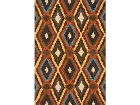 Loloi Enzo Modern Brown Hand Made Synthetic Geometric 2'3'' x 3'9'' Area Rug - ENZOEZ-05BRML2339
