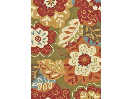 Loloi Francesca Transitional Green Hand Made Synthetic Floral/Botanical 2'3'' x 3'9'' Area Rug - FRACFC-13GRML2339