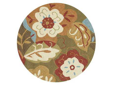 Loloi Francesca Transitional Green Hand Made Synthetic Floral/Botanical Area Rug - FC-13-GRML-ROU