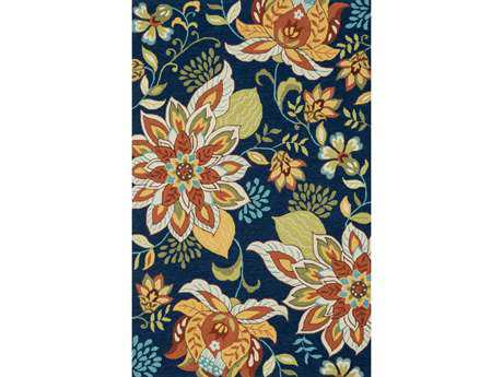 Loloi Francesca Transitional Blue Hand Made Synthetic Floral/Botanical 2'3'' x 3'9'' Area Rug - FRACFC-34BBFB2339