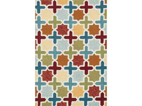 Loloi Francesca Transitional Blue Hand Made Synthetic Geometric 2'3'' x 3'9'' Area Rug - FRACFC-49REML2339