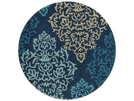 Loloi Francesca Transitional Blue Hand Made Synthetic Floral/Botanical Area Rug - FRACFC-50NVML-ROU