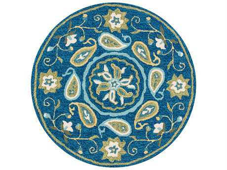 Loloi Francesca Transitional Blue Hand Made Synthetic Floral/Botanical Area Rug - FRACFC-53BBGR300R-ROU