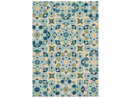 Loloi Francesca Transitional Blue Hand Made Synthetic Floral/Botanical 2'3'' x 3'9'' Area Rug - FRACFC-55TQSU2339